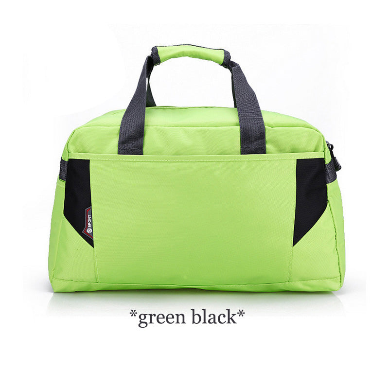 Costbuys  Sports Nylon Women Gym Bags Professional Outdoor Men And Women Gym Handbag Female Training Shoulder Bag Gym Bag - gree