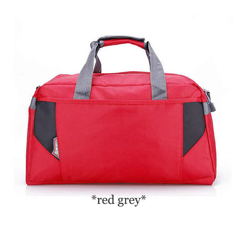 Costbuys  Sports Nylon Women Gym Bags Professional Outdoor Men And Women Gym Handbag Female Training Shoulder Bag Gym Bag - red