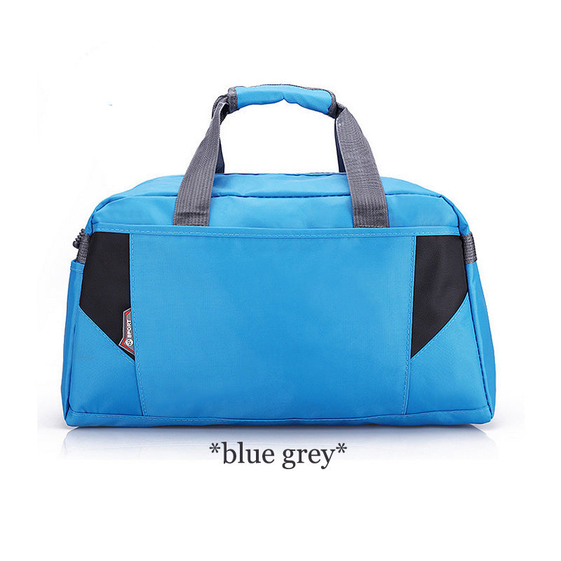 Costbuys  Sports Nylon Women Gym Bags Professional Outdoor Men And Women Gym Handbag Female Training Shoulder Bag Gym Bag - blue