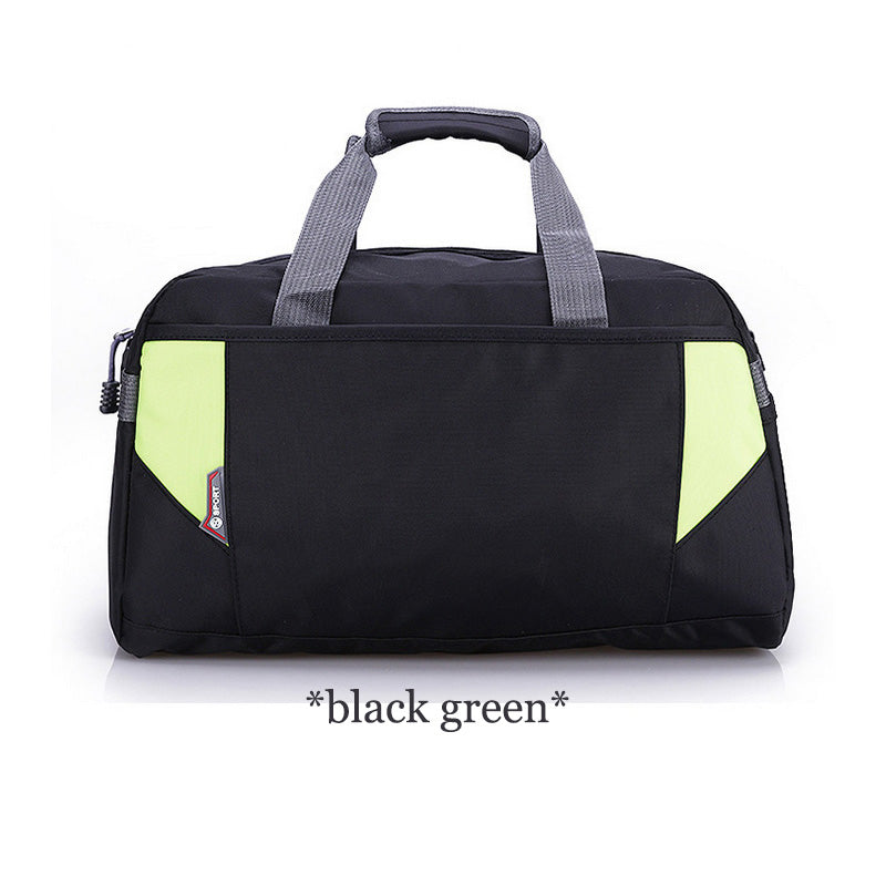 Costbuys  Sports Nylon Women Gym Bags Professional Outdoor Men And Women Gym Handbag Female Training Shoulder Bag Gym Bag - blac