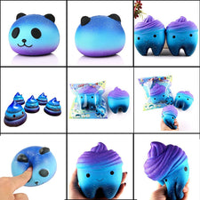 Squeeze Squishys Galaxy Cute 10 CM Panda Cream Scented Squishy Funny Gadgets Anti Stress Novelty Antistress Toys Gift slime toys