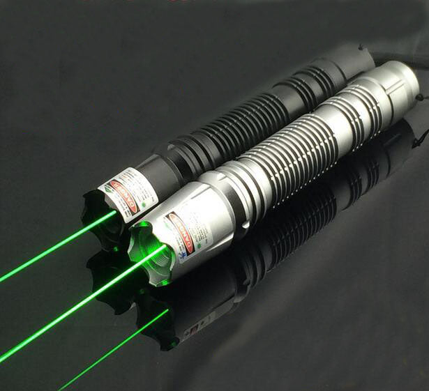 Costbuys  Strong high power 20000m green laser pointer 532nm focusable with 5 star caps burning match green laser pointers /pop