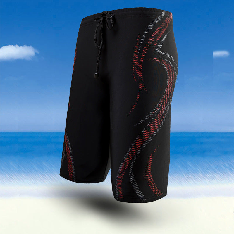 Costbuys  Summer Boy Swimming Shorts Printing Beach Board Surf Shorts Mens Swim Boxer Trunks Shorts Bermuda Quick Drying Swimwea