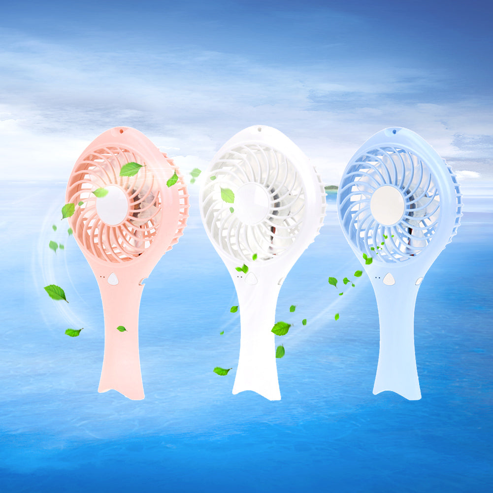 Costbuys  Summer Cooling Fan Portable Mini USB Charge Desk Fan Air Conditioning Fan for Home Office Desk USB Gadgets New - Blue