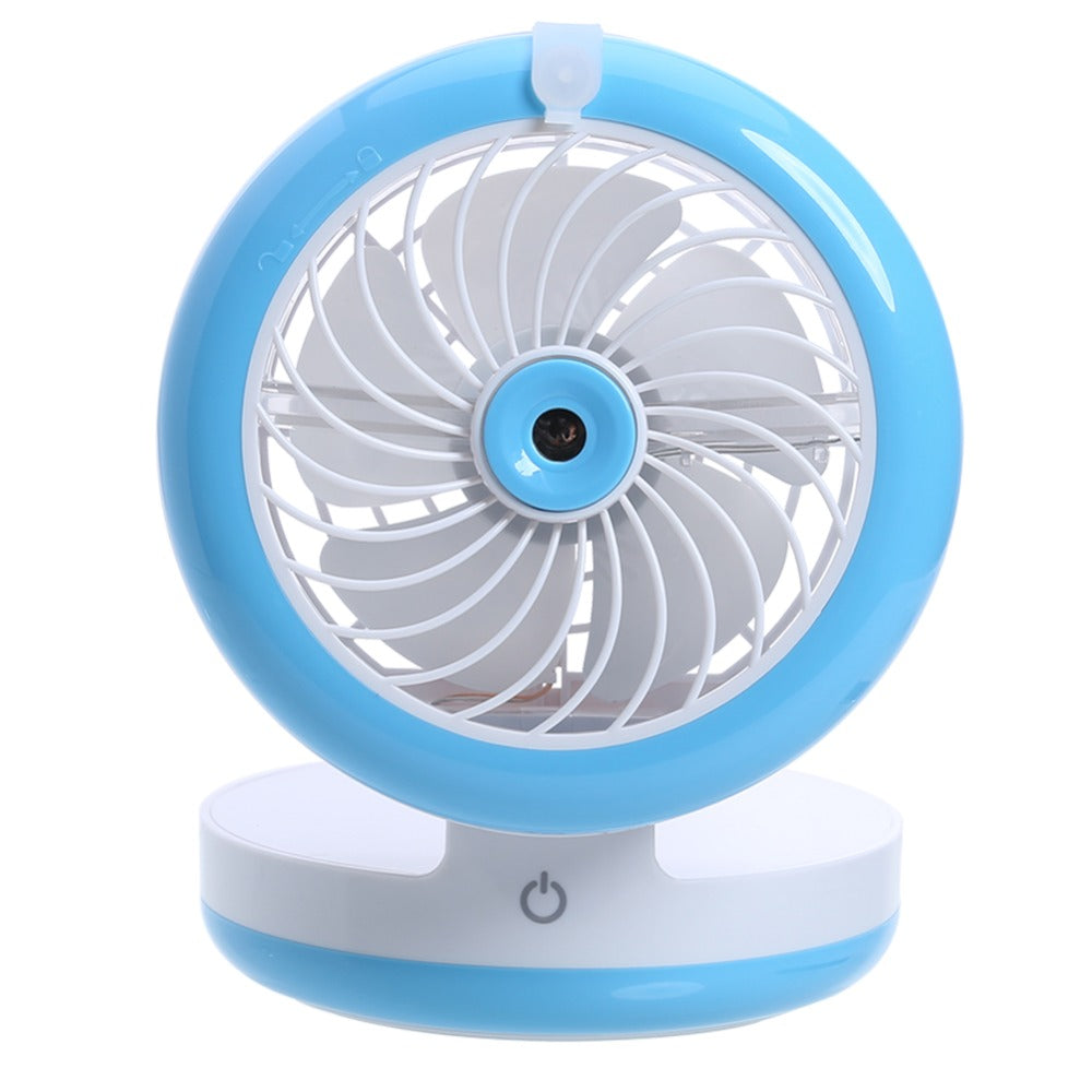 Costbuys  Summer USB Spray Fan Mini Humidifier Small Cooling Fan Touch Switch Rechargeable Water Mist Ventilador Mobile Power Ba