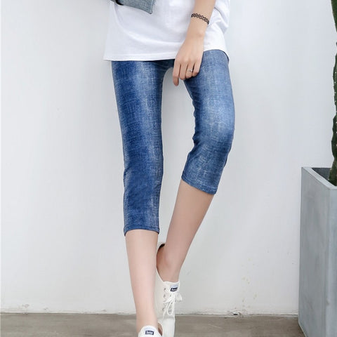 Summer style white hole ripped jeans Women jeggings cool denim high waist pants capris Female skinny black casual  jeans