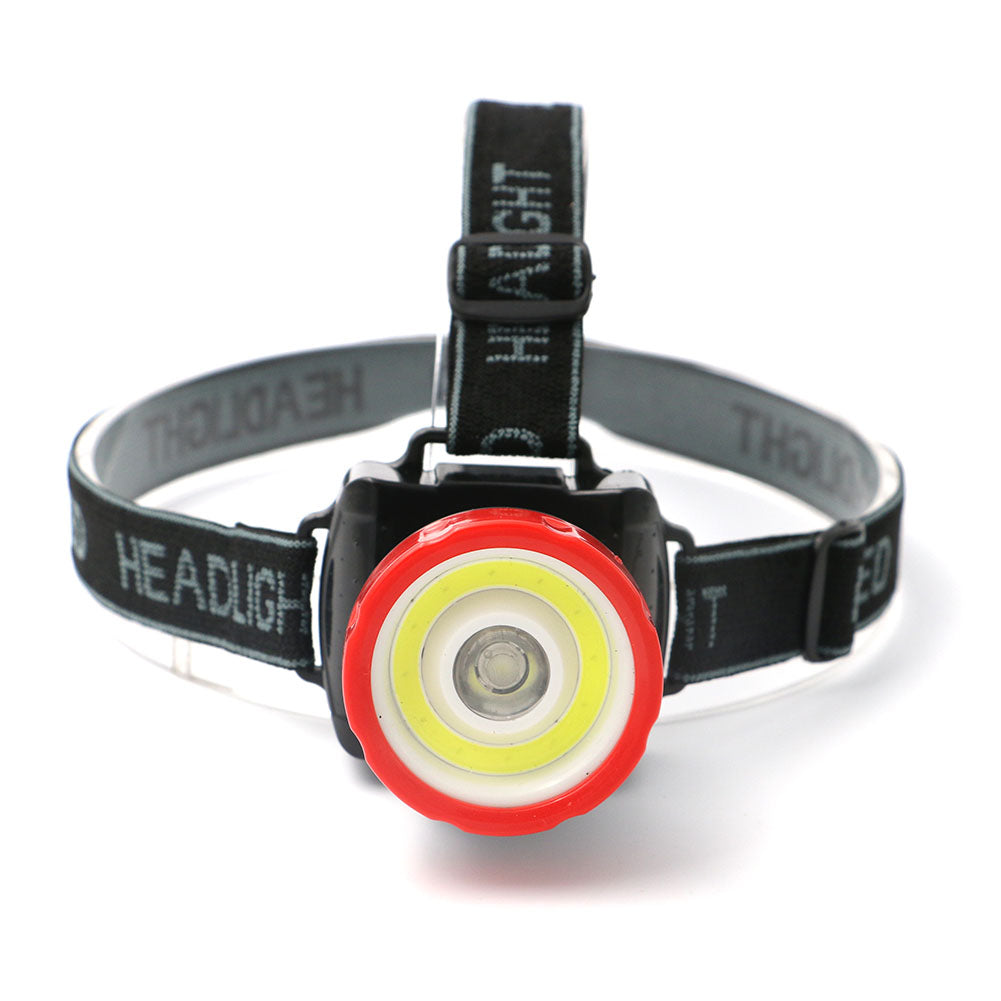 Costbuys  Super Bright COB LED Headlamp 2 Mode Head Light Lamp Flashlight For Hiking Camping Night Fishing Waterproof Headlamp U