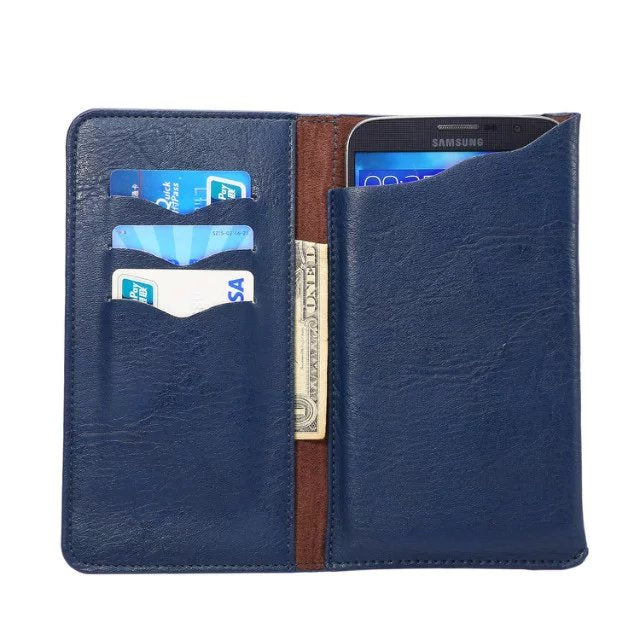 Costbuys  LeEco Le Pro 3 Elite Crazy Horse PU Leather Wallet Stand Phone Case Cover Cell Phone Accessories - Blue