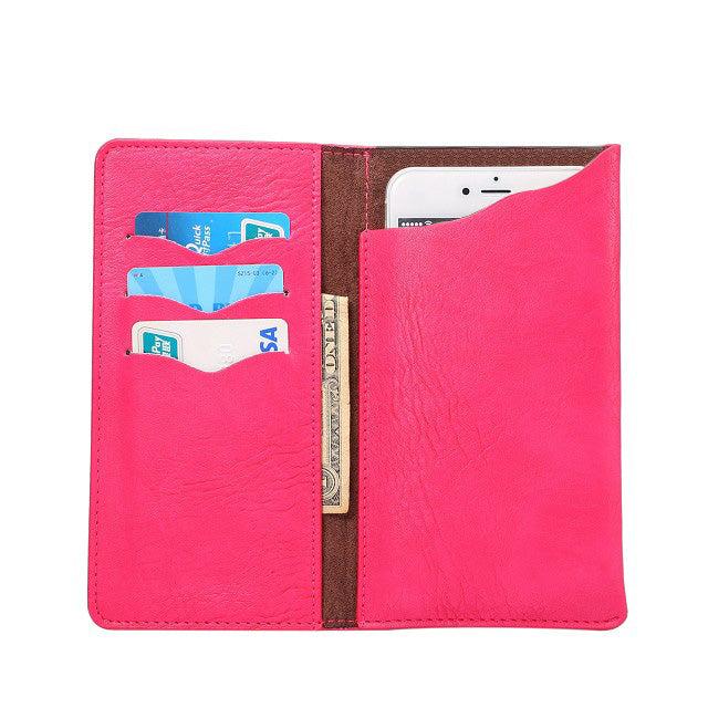 Costbuys  Oukitel U16 Max Crazy Horse PU Leather Wallet Stand Phone Case Cover Cell Phone Accessories - Rose