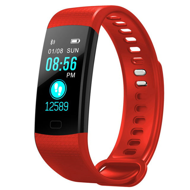 Costbuys  Women Men Smart Wrist Band Bluetooth Heart Rate Blood Pressure Pedometer Clock LED Sport Bracelet Watch For Android IO
