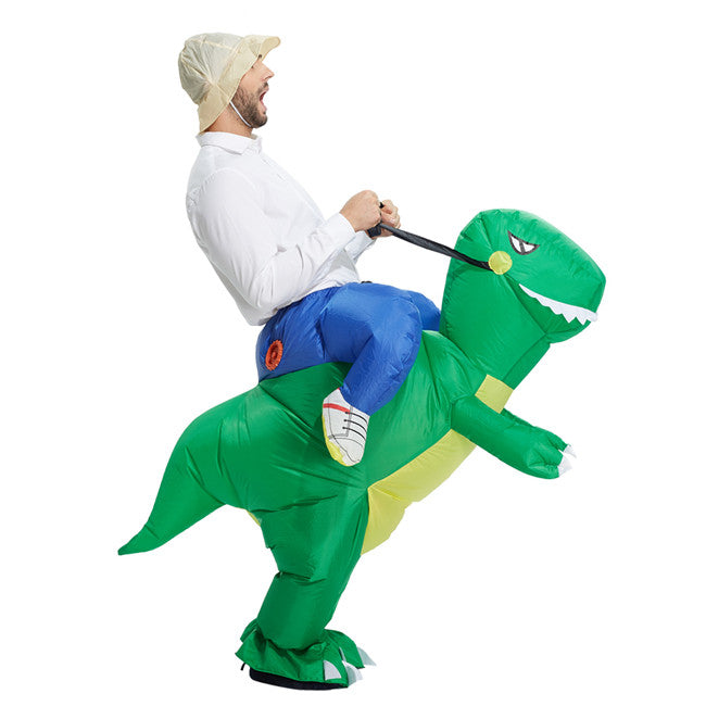 Costbuys  inflatable dinosaur costume for adults Halloween costume disfraces fancy dress for men kids animal cloth Fan operated