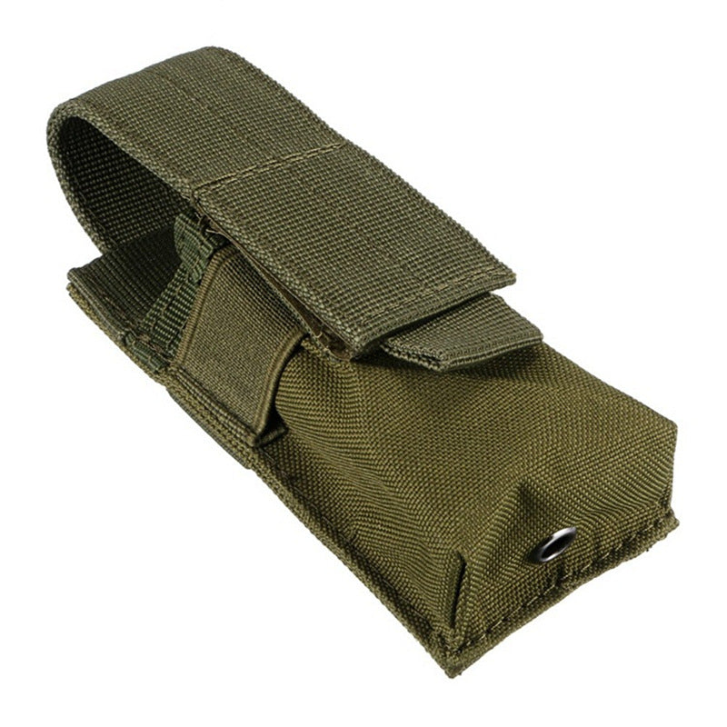 Costbuys  Tactical MOLLE Dual Single Pistol Mag Pouch bag EDC Universal Outdoor Multi Tools Knives Flashlights Holster M5 flashl