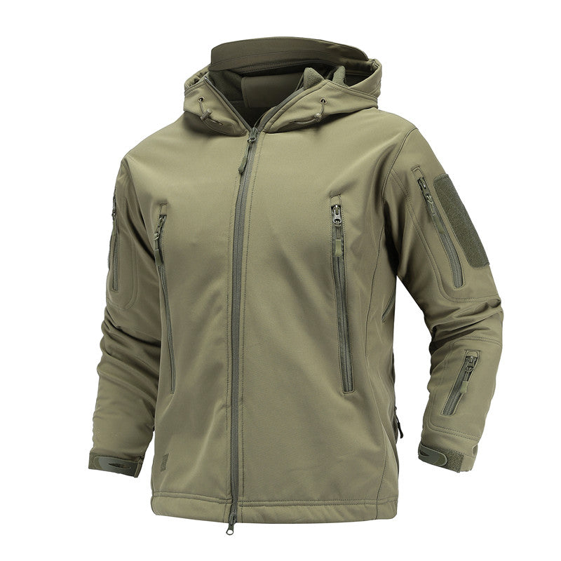 Costbuys  Tactical Military Jacket Men's Outdoor Sport  Camping Hiking Softshell Waterproof Windproof Warm Camouflage Hunting Cl