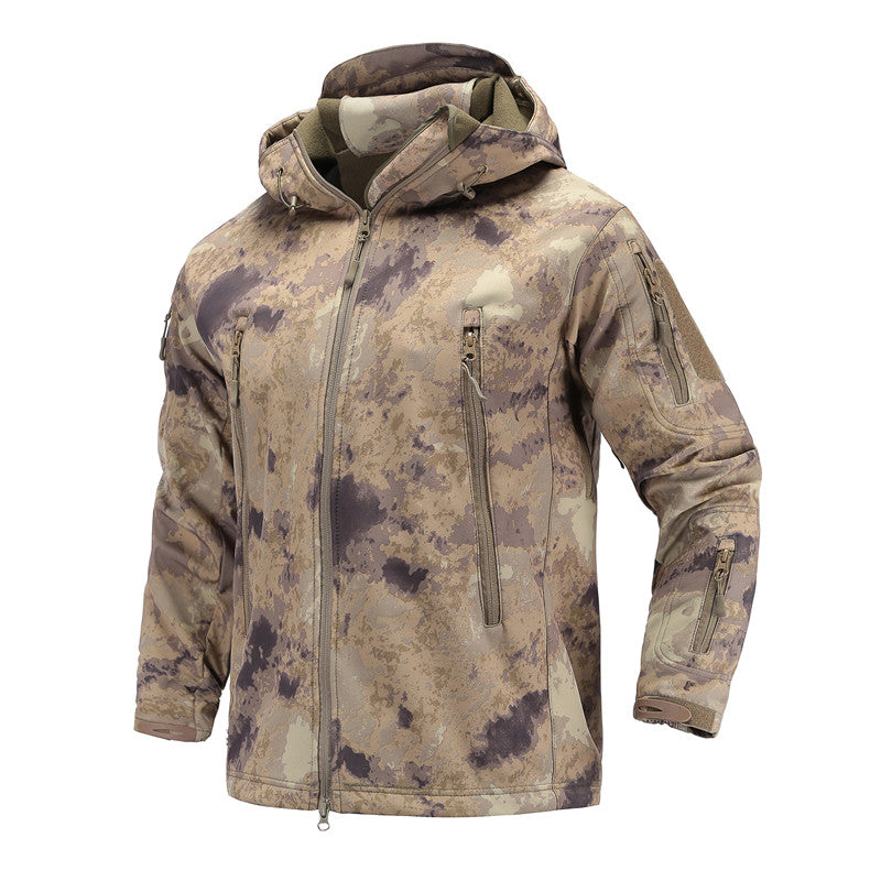 Costbuys  Tactical Military Jacket Men's Outdoor Sport Camping Hiking Softshell Waterproof Windproof Warm Camouflage Hunting Clo