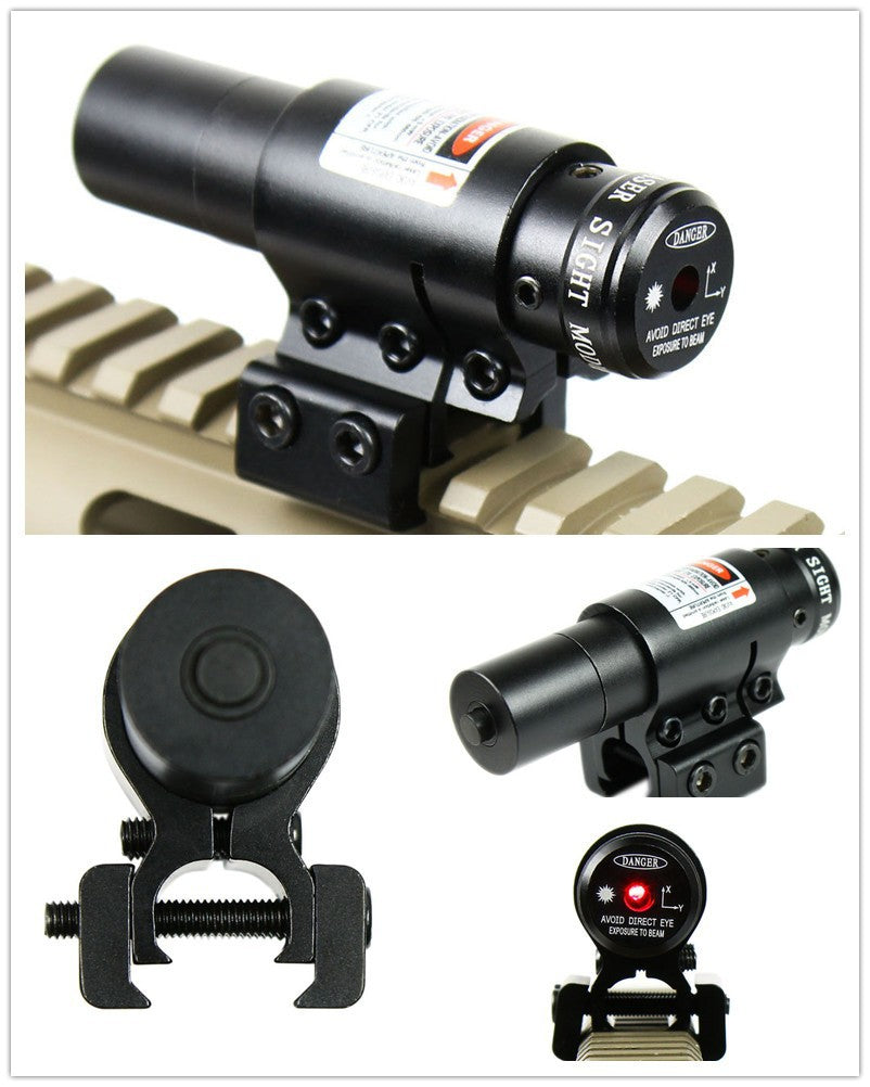 Costbuys  Tactical red dot Laser Sight and Scope for Air Gun Rifle Weaver Adjustable 11/20mm Picatinny Rails Mount Rail for Airs