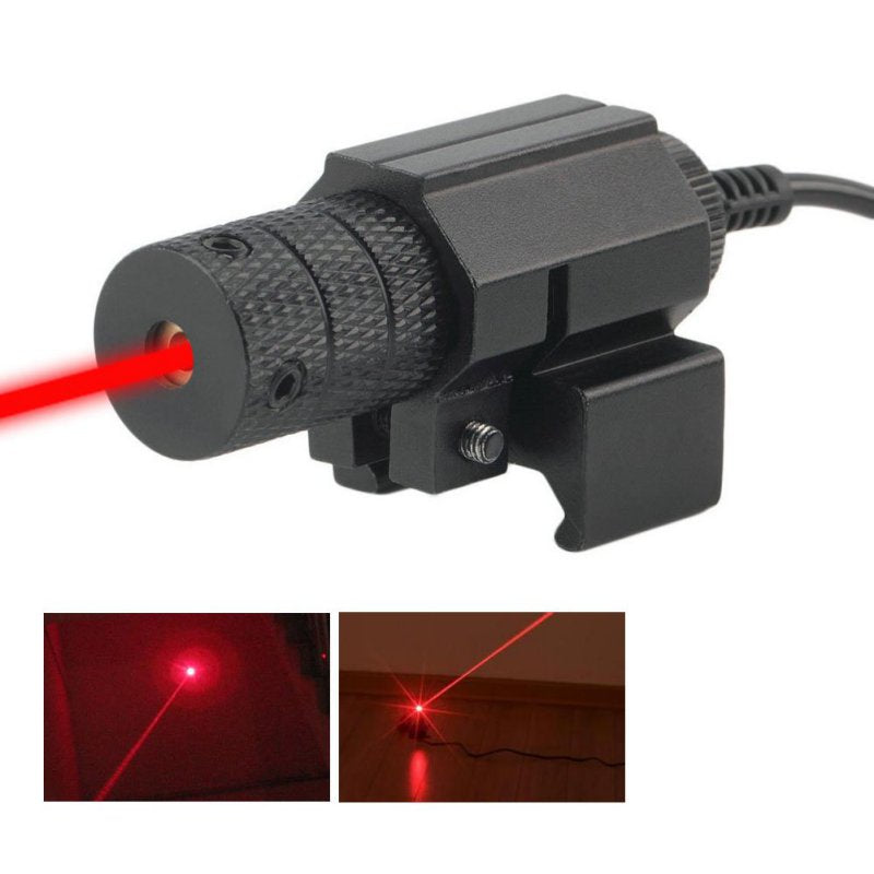 Costbuys  Tactical red dot Red Laser Sight With Tail Switch Scope Lengthen Rat Tail Hunting Optics