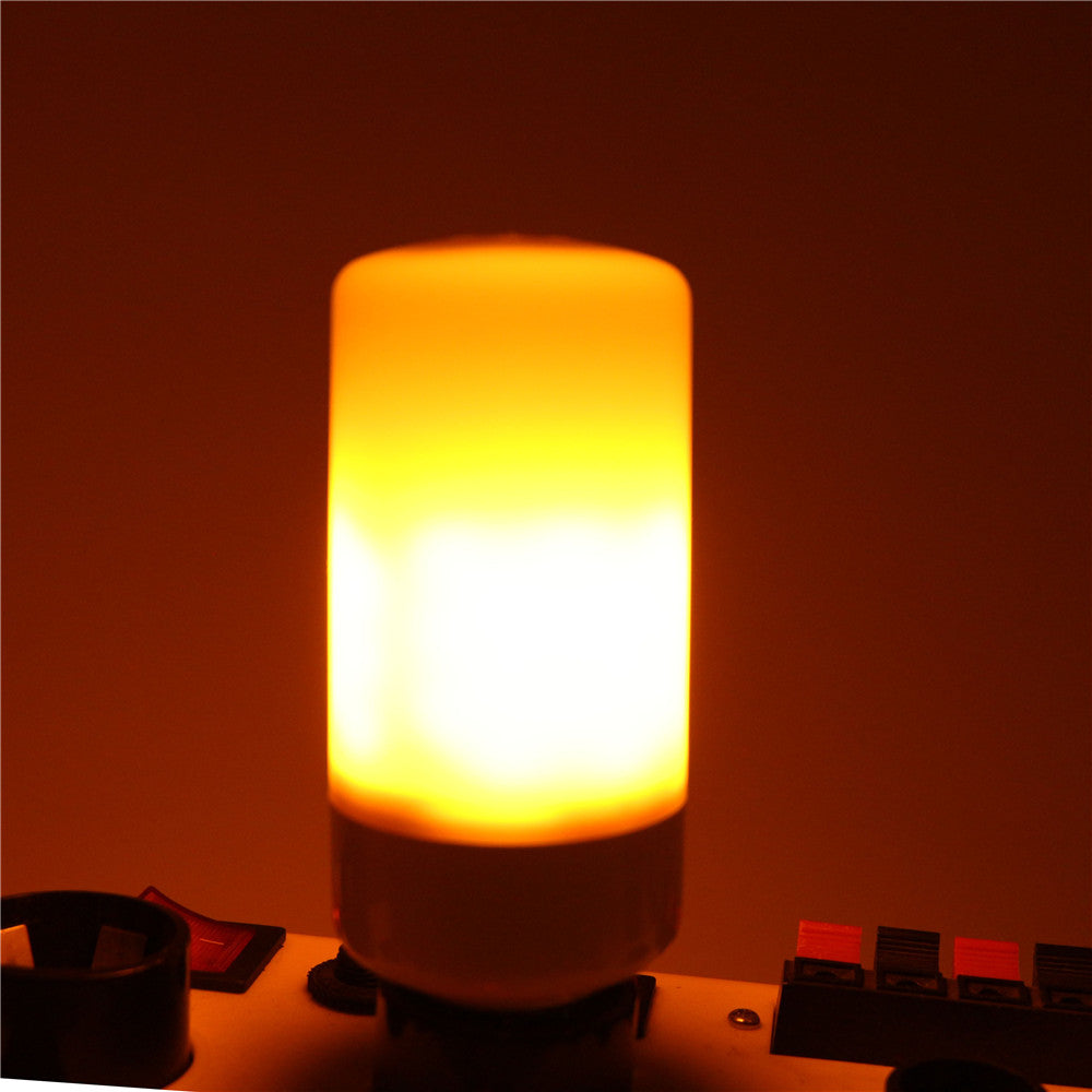 Costbuys  E27 Fire bulbs Dancing flame effect SMD2835 Chips 110V-220V Yellow LED corn light indoor/Outdoor Party decoration - Ye