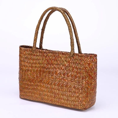 Costbuys  Thai version of seaweed woven bag shoulder bag women retro fashion rattan weaving beach bag holiday handbag Top-Handle