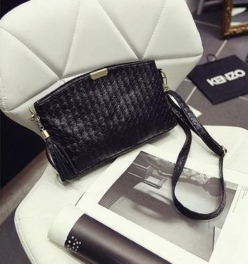 Costbuys  The new han edition handbag fashion woven bag Single shoulder bag creative mobile phone bag aslant packets Crossbody B