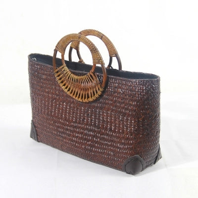 Costbuys  The new version of the hand vine rattan woven grass package package Vatican holiday beach bag bamboo handbag female ba