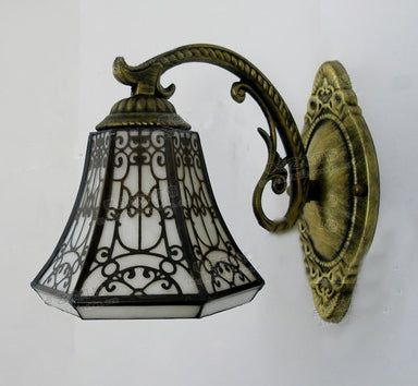 Costbuys  Baroque vintage Stained Glass Iron Mermaid wall lamp indoor lighting bedside lamps wall lights for home AC 110V/220V E