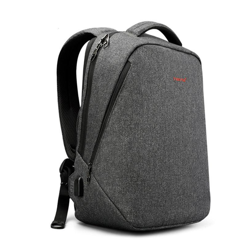Costbuys  men backpack anti theft USB charge 14