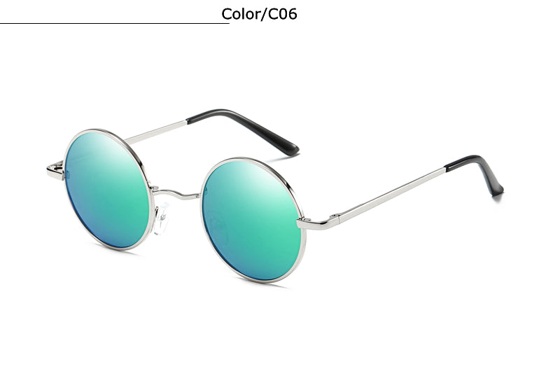 Costbuys  Tmall Designer Classic Round Sunglasses Men Women Polarized Metal Small Frame Retro Steampunk Sun Glasses UV400 Shade