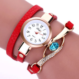 Costbuys  Top Fashion Luxury Diamond Rhinestone Watch Women Watches Ladies Gold Bracelet Watch Long Leather Quartz-Watch Hour Mo