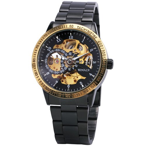 Costbuys  Top Fashion Mens Full Stainless Steel Watches Stainless Steel Band Male Automatic Mechanical Wrist Watches Luminous Ha