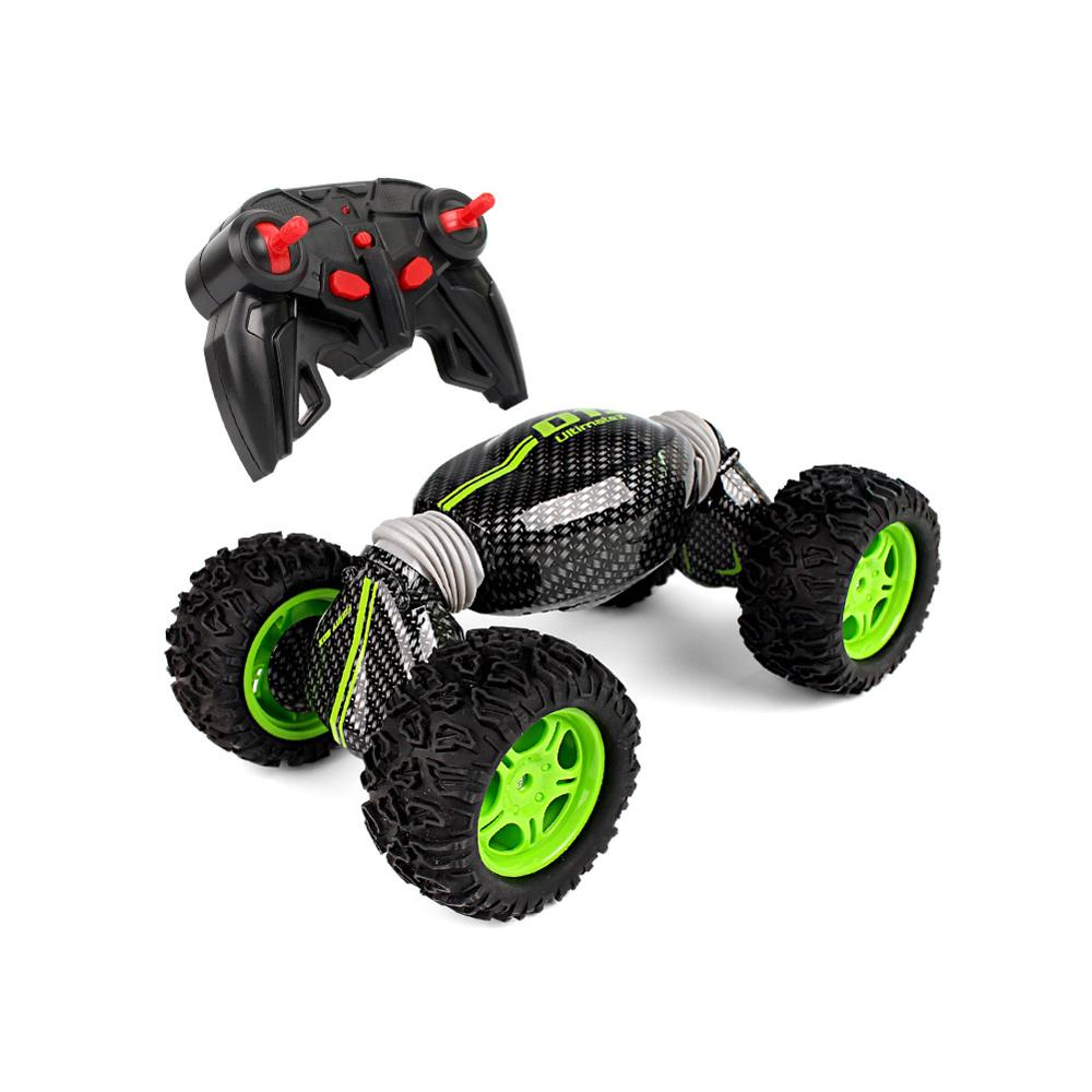 Costbuys  Toy car children remote control car four-wheel drive high-speed car double-sided climbing deformation twist stunt car