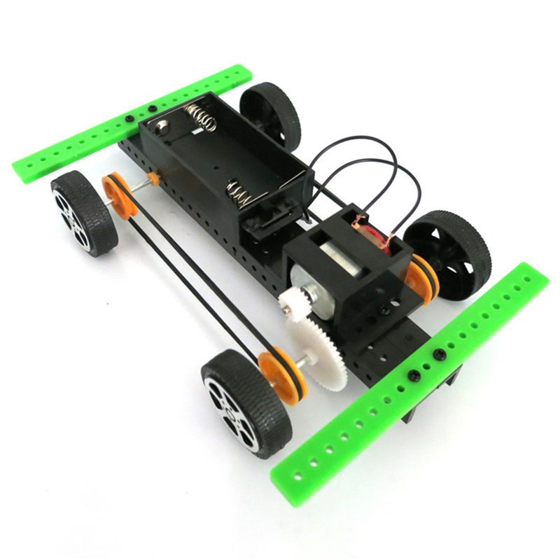 Costbuys  Toys for children 1 Set Mini Solar Powered Toy Car DIY ABS Kit Child Educational Funny Gadget Hobby Gift - as show