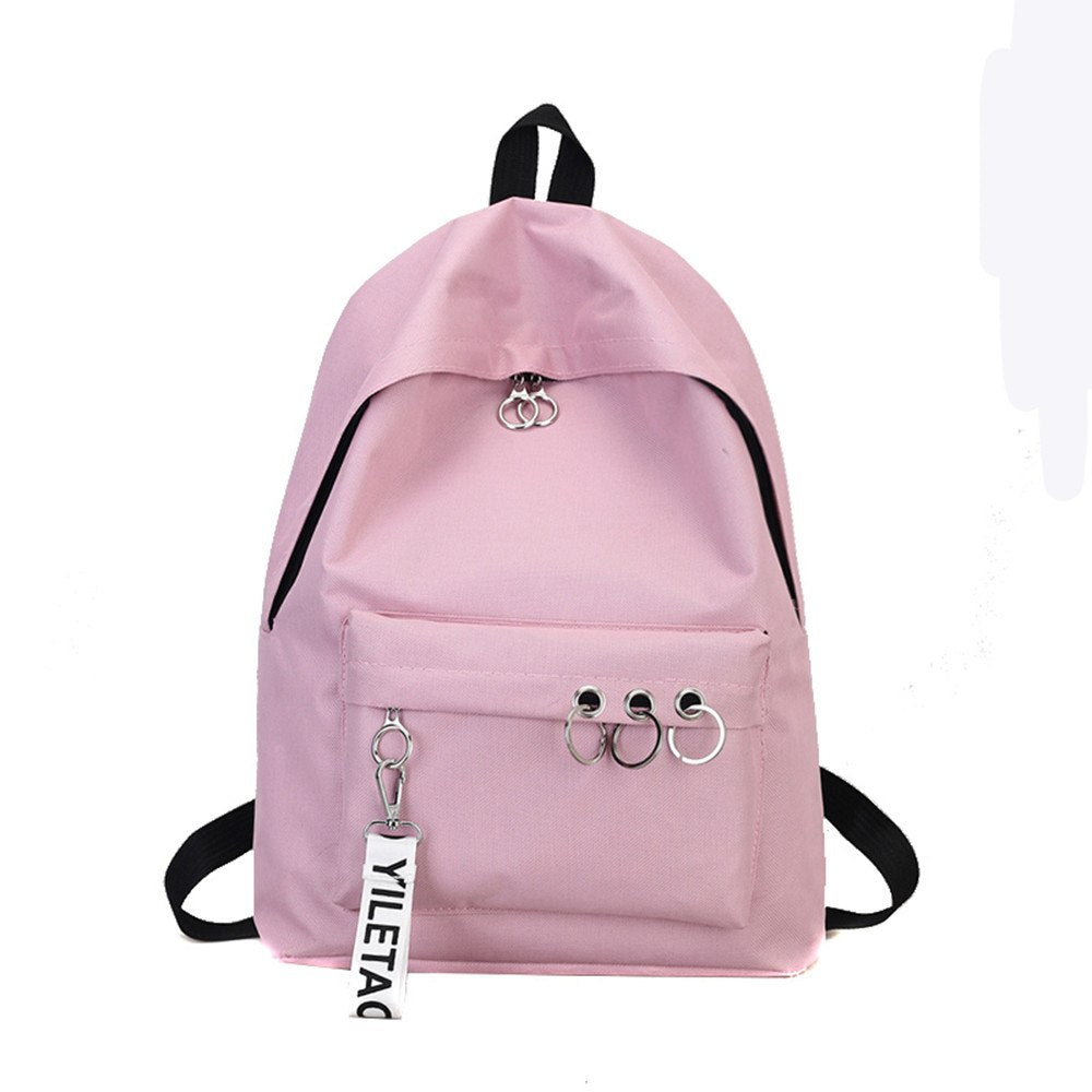 Costbuys  Travel Backpack 4 Colors School Bags For Teenagers Girls Female Rucksack Leisure Student School bag Soft - Pink / Chin