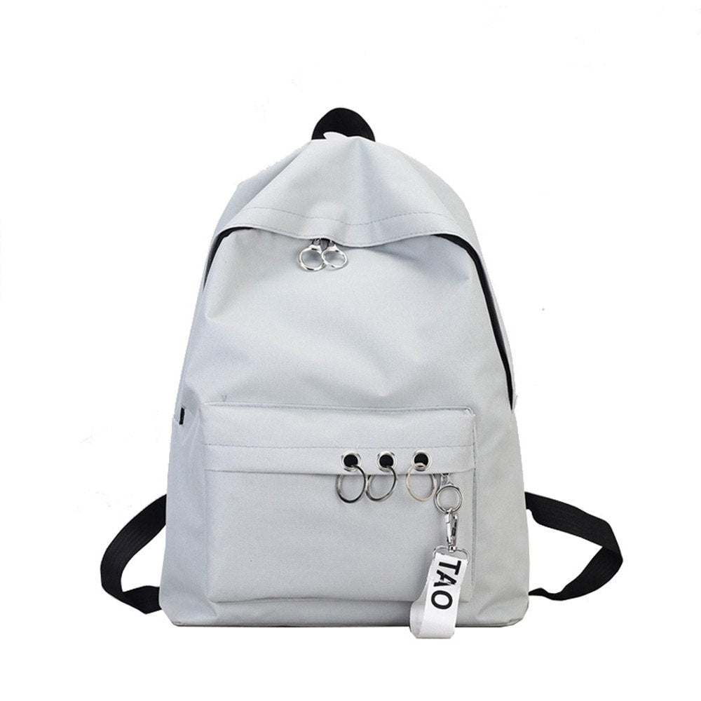 Costbuys  Travel Backpack 4 Colors School Bags For Teenagers Girls Female Rucksack Leisure Student School bag Soft - Gray / Chin