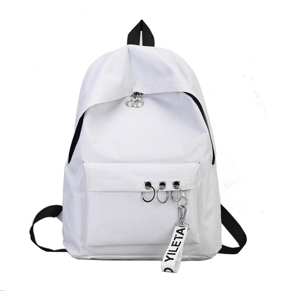 Costbuys  Travel Backpack 4 Colors School Bags For Teenagers Girls Female Rucksack Leisure Student School bag Soft - White / Chi