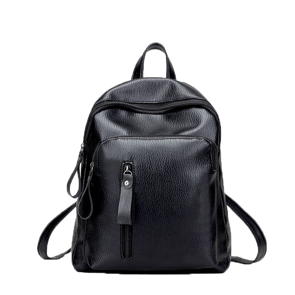 Costbuys  Travel Backpack Women Backpack Leisure Student Schoolbag Soft Women Bag Large Capacity Backpack #35 - Black / China