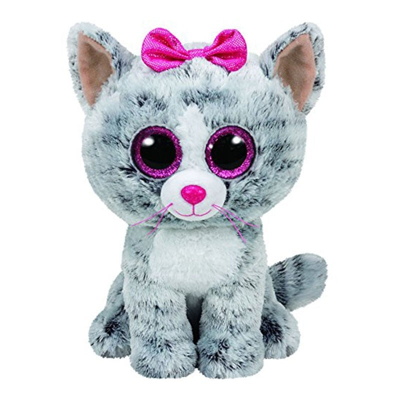 60ad1667e4b Ty Beanie Boos Gray Cat unicorn Plush Toy Doll Baby Girl Birthday Gift –  Costbuys