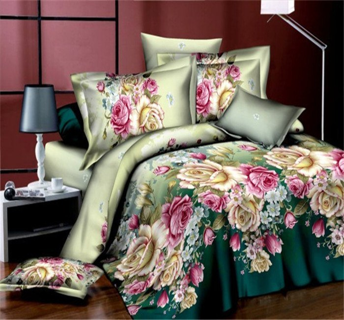Costbuys  Bedding Set bed cover duvet cover sets linens bed in a bag sets bedclothes bed in a bag - as_12 / Queen_12