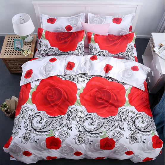 Costbuys  Bedding Set bed cover duvet cover sets linens bed in a bag sets bedclothes bed in a bag - as_10 / Queen_10