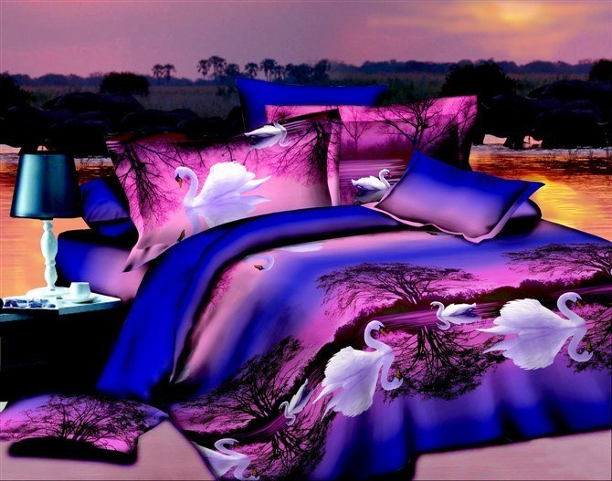Costbuys  Bedding Set bed cover duvet cover sets linens bed in a bag sets bedclothes bed in a bag - as_4 / Queen_4