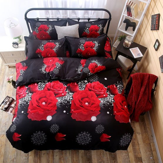 Costbuys  Bedding Set bed cover duvet cover sets linens bed in a bag sets bedclothes bed in a bag - as_5 / Queen_5