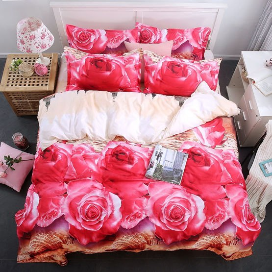Costbuys  Bedding Set bed cover duvet cover sets linens bed in a bag sets bedclothes bed in a bag - as_9 / Queen_9