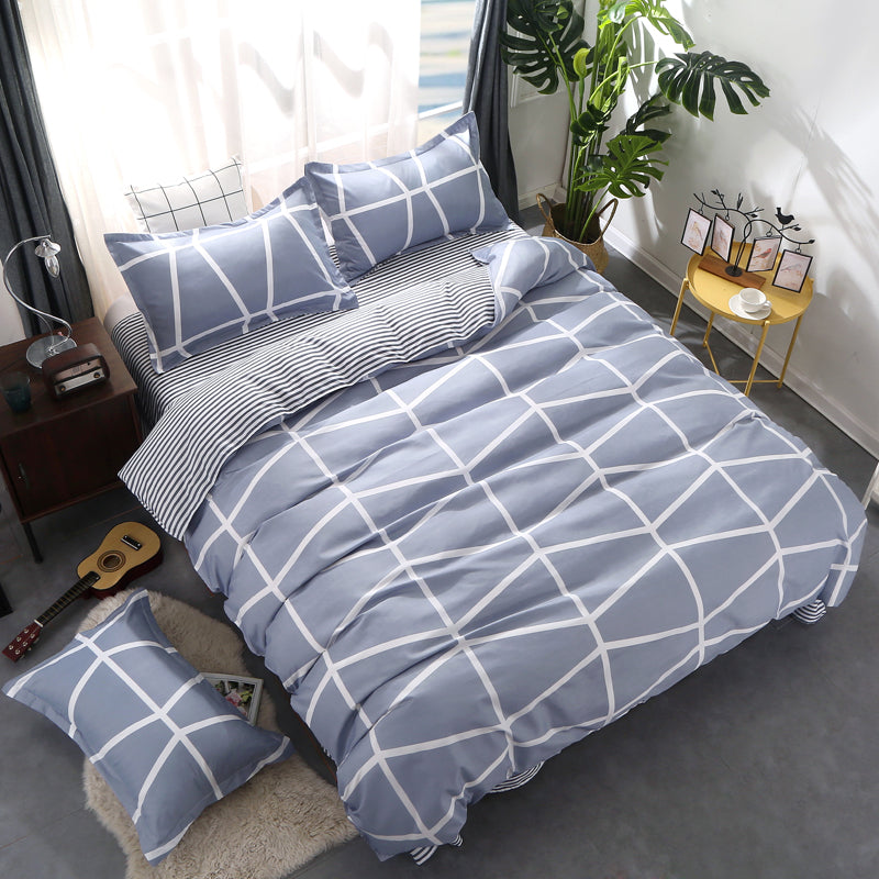 Costbuys  Bedding Sets Duvet Cover Set 2/4 PCS Bedding Twin King Queen Size Bedclothes 140x200 200x200cm Bed Sheet set - King 3p