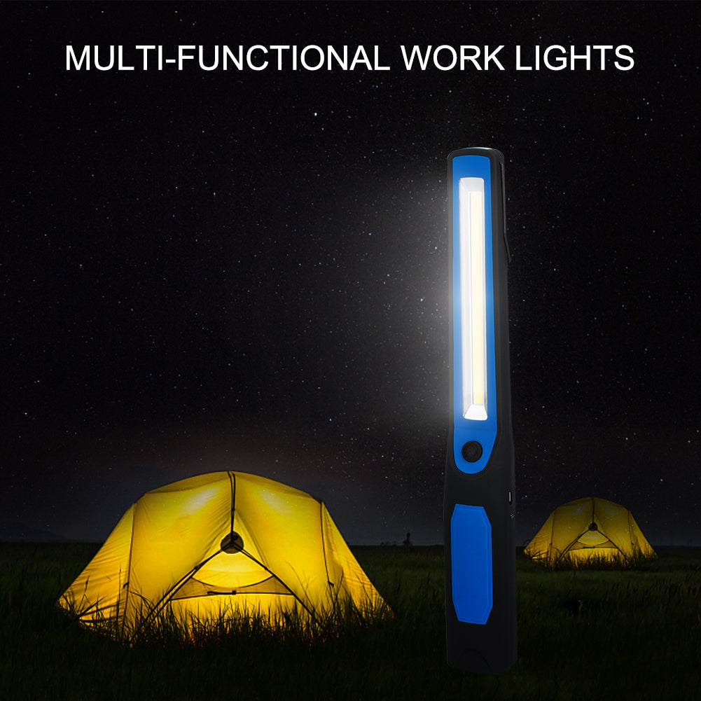 Costbuys  USB Charging LED Flashlight 2 Modes Super Bright COB LED Inspection Working Camping Light Torch Flashlight with Magnet