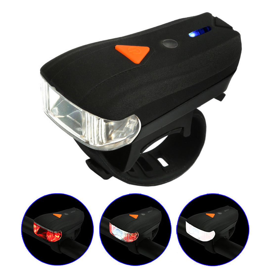 Costbuys  USB Rechargeable Bike Light Front Handlebar Cycling Led Battery Flashlight Torch Headlight Bicycle Accessories Light