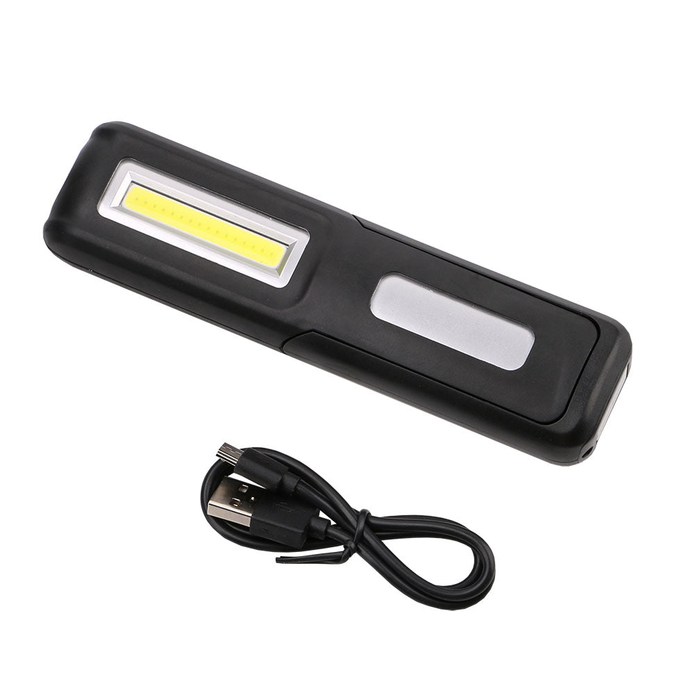 Costbuys  USB Rechargeable COB LED Flashlight Torch Work Light Stand Lanterna Magnetic Hook Built-in Battery Flashlights for Cam