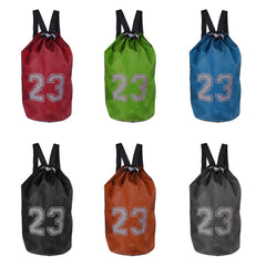 Unisex Drawstring Sports Backpack Bag with Adjustable Shoulder Strap for Soccer Basketball Volleyball Football The Beach