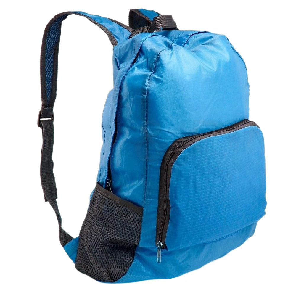 Costbuys  Unisex Outdoor Sports Waterproof Foldable Backpack Hiking Bag Camping Rucksack - Blue