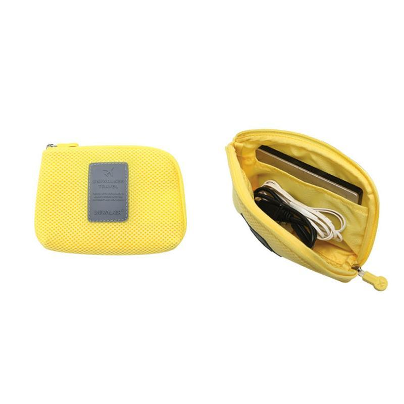 Costbuys  Portable Storage Bag Digital Gadget Devices USB Cable Earphone Pen Travel Cosmetic packing bag Organizer - yellow