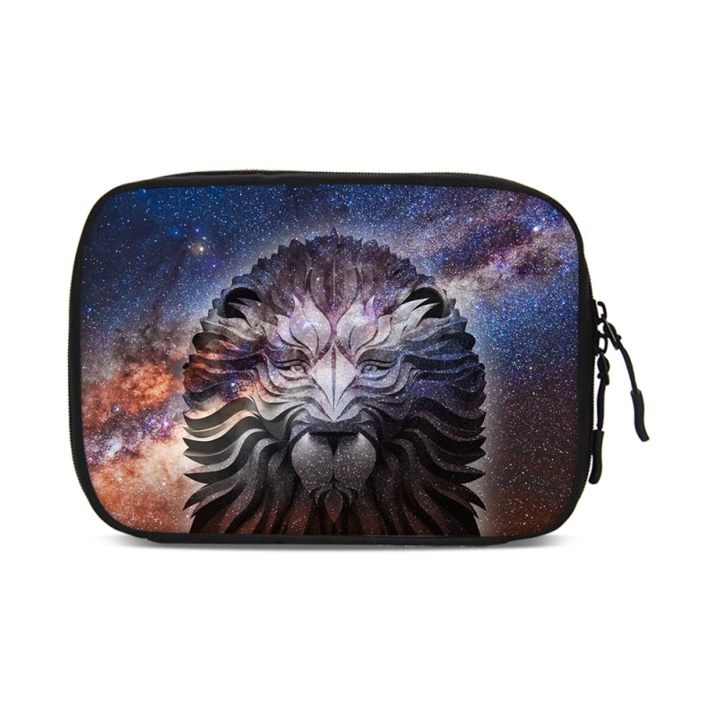 Wolf Owl Pattern Portable Travel Digital Gadget Storage Bag Electronics  Organizer Chargers Cables Mini Protection Pouch