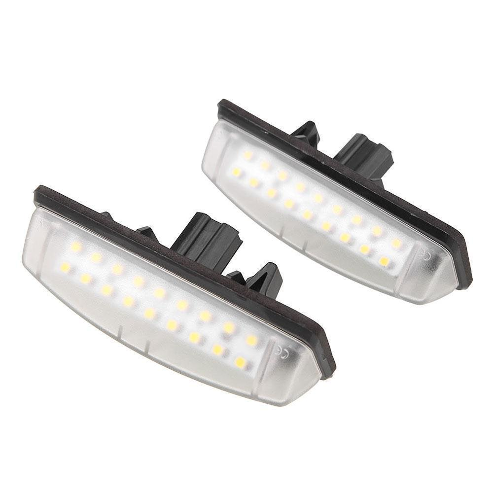 Costbuys  White 1.4W Replacement Car Styling Number Plate Light Lamp Car License Plate Light Accessories Automobile for Toyota